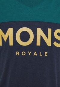 Mons Royale - REDWOOD ENDURO - Triko spotiskem - deep teal/navy - 2