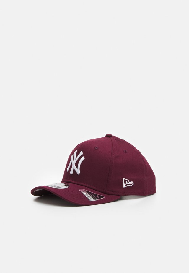 COLOUR ESSENTIALS 9FIFTY STETCH SNAP - Cappellino - maroon/off white
