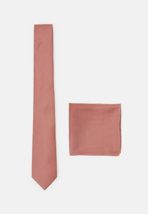 TEXTURED TIE AND HANKIE SET - Kravata - rust