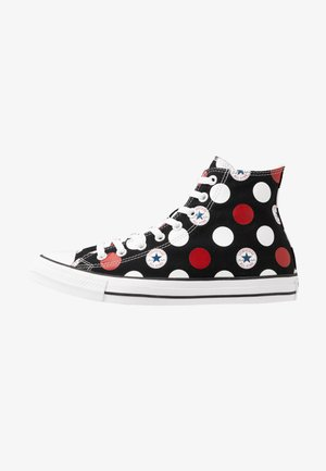 CHUCK TAYLOR ALL STAR - Höga sneakers - black/university red