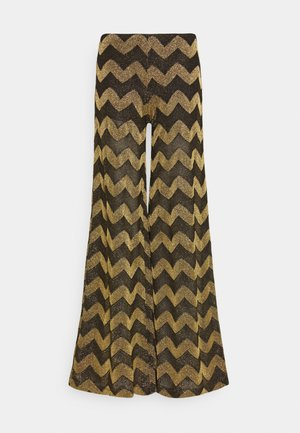 PANTALONE - Trousers - black/yellow