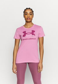 Under Armour - LIVE SPORTSTYLE GRAPHIC - Print T-shirt - planet pink - 0