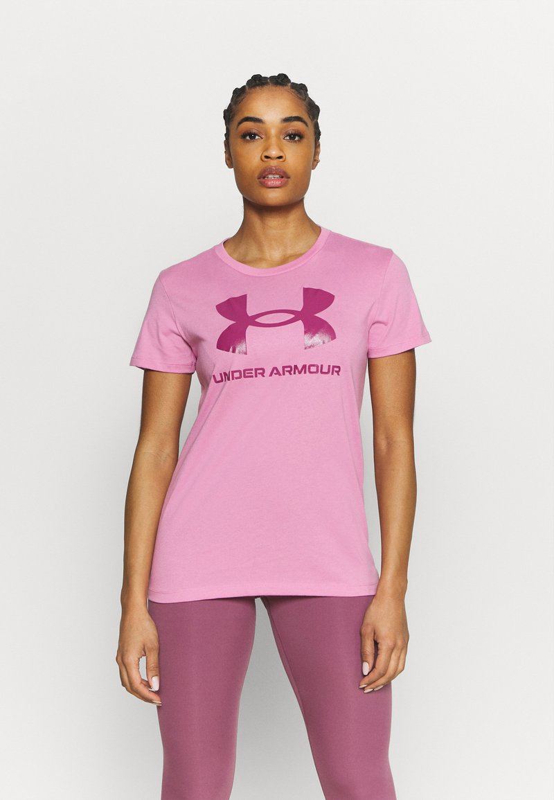 Under Armour - LIVE SPORTSTYLE GRAPHIC - T-shirts med print - planet pink