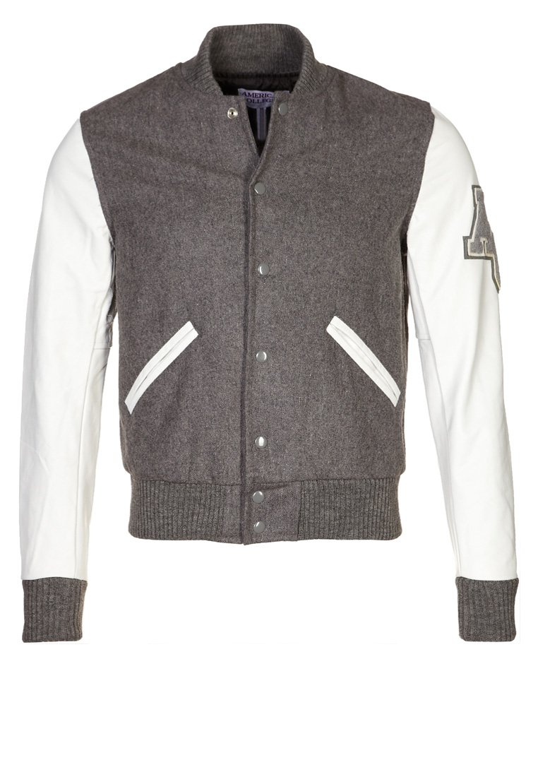 American College - TEDDY - Veste en cuir - grey