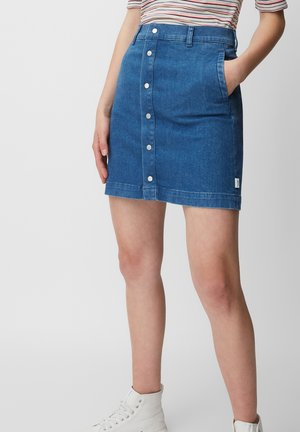 Denim skirt - pre fall blue