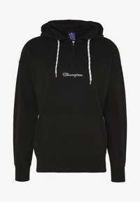Champion - ROCHESTER HALF ZIP HOODED - Bluza z kapturem - black - 4