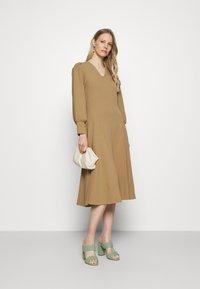Marks & Spencer London - PUFF - Jersey dress - brown - 1