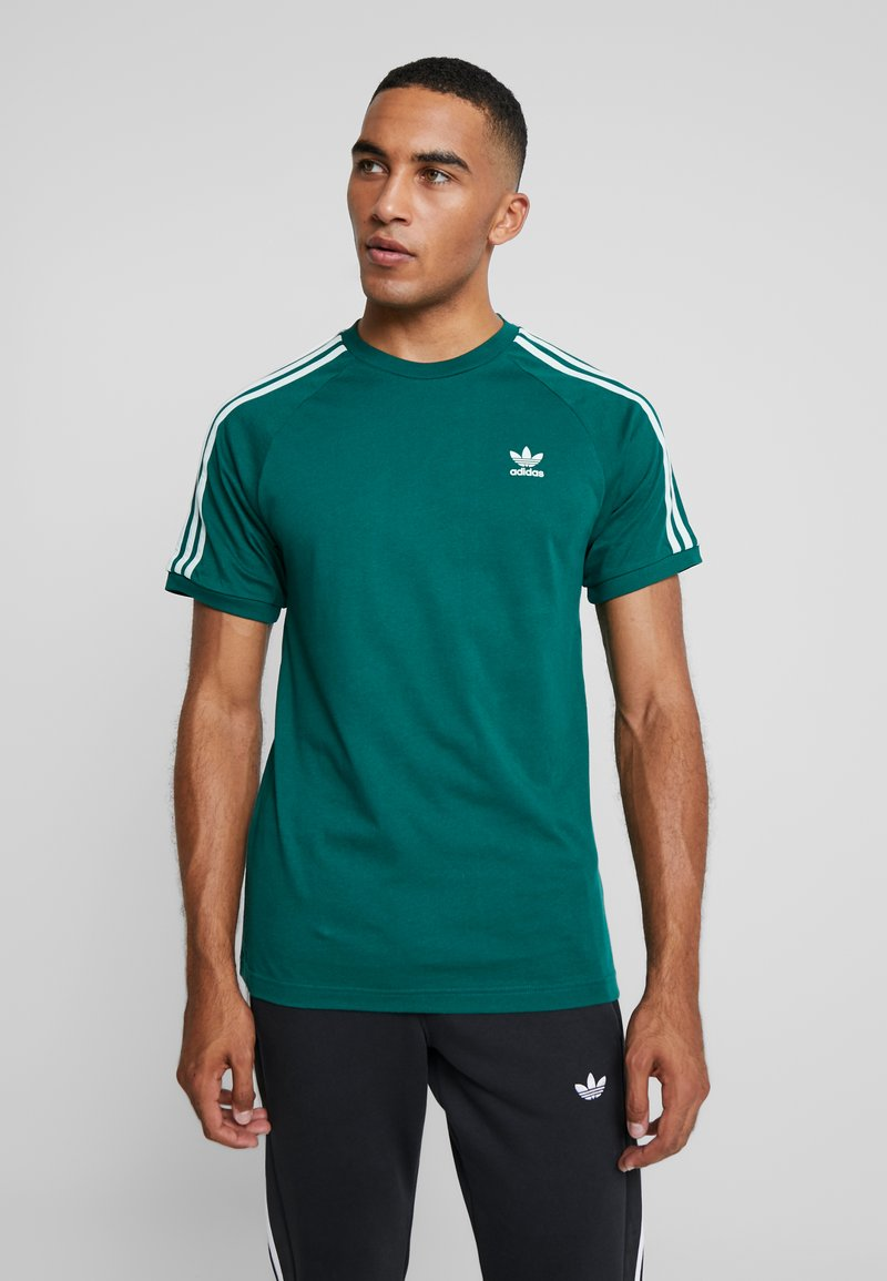 adidas Originals - ADICOLOR 3 STRIPES TEE - Print T-shirt - collegiate green