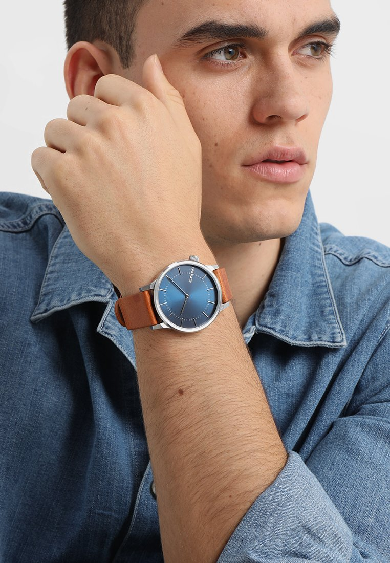 Komono - THE WINSTON - Watch - regal blue cognac