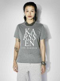 Zoe Karssen - T-shirt con stampa - grey melee - 0
