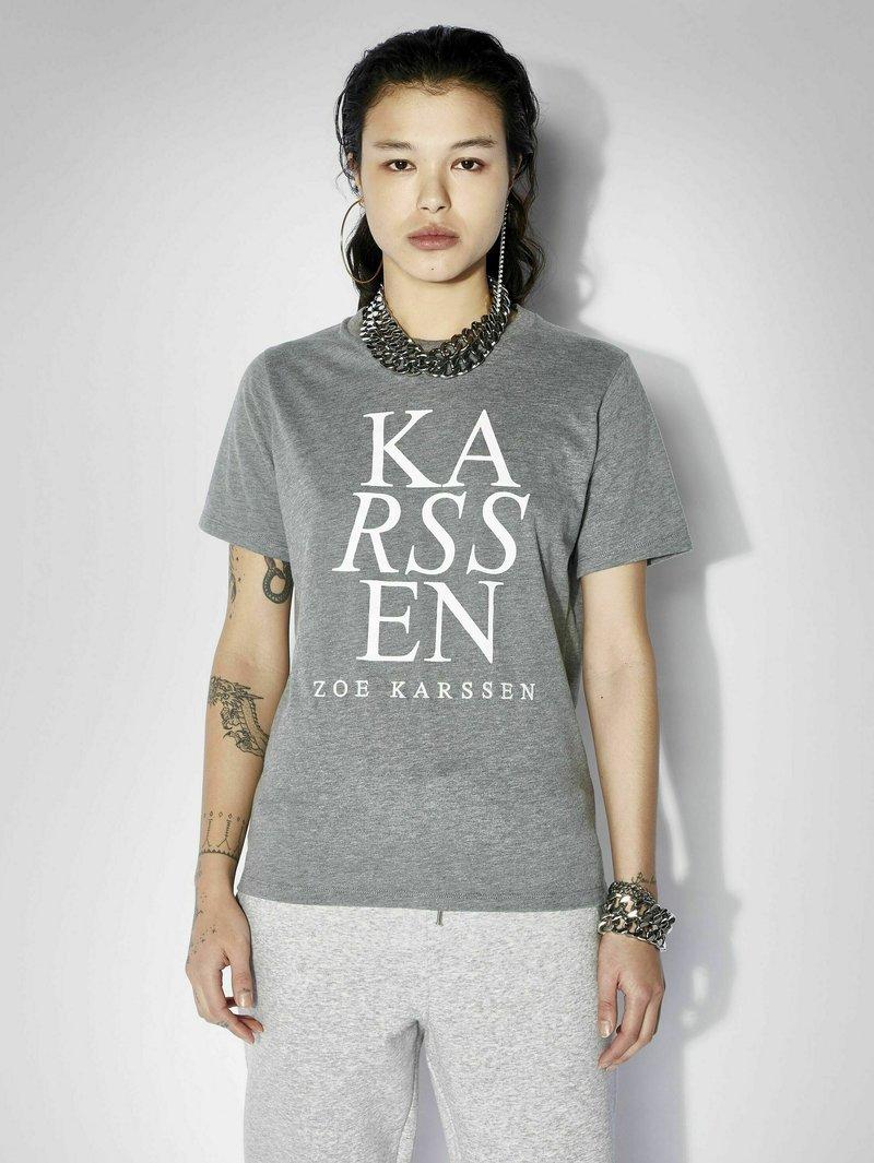 Zoe Karssen - T-shirt con stampa - grey melee