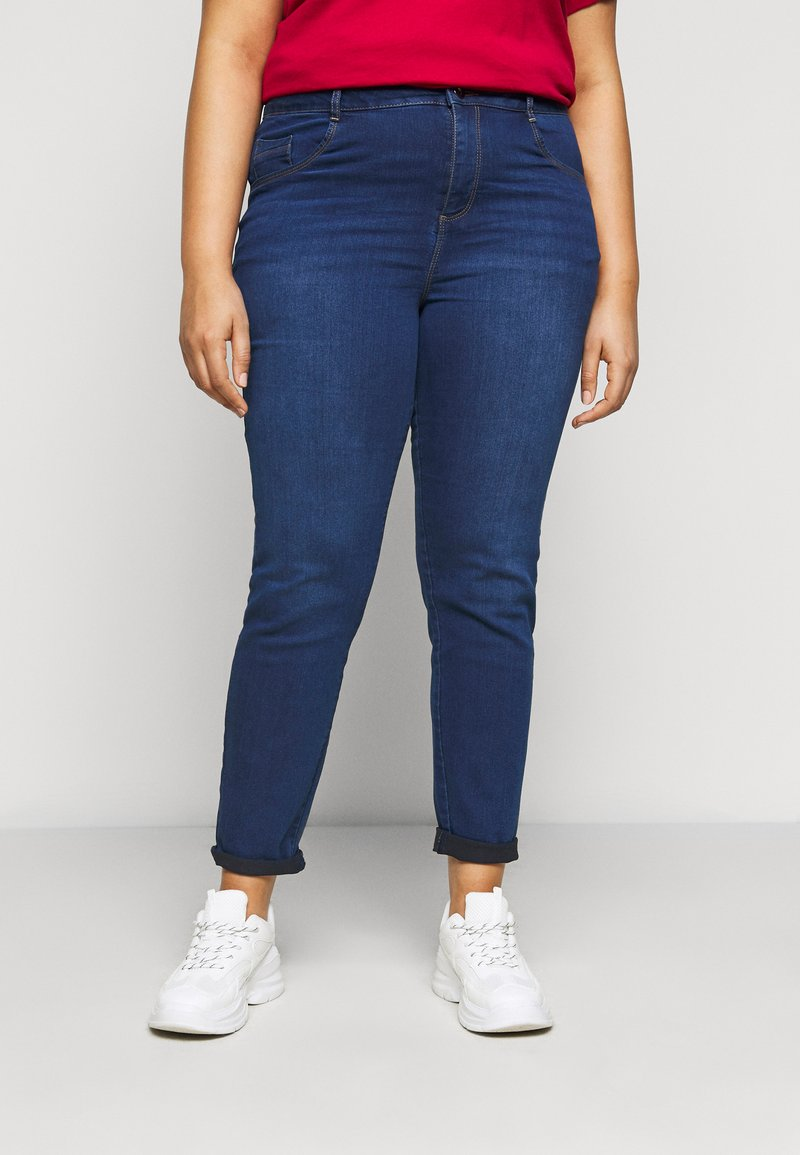 Dorothy Perkins Curve - ELLIS SKINNY - Jeans Skinny Fit - mid was denim