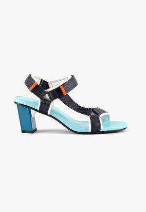 AURA - High heeled sandals - blue beat