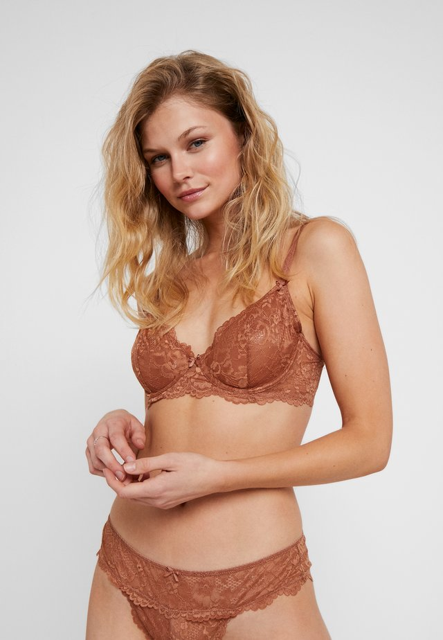 UNLINED BRA - Underwired bra - bronze
