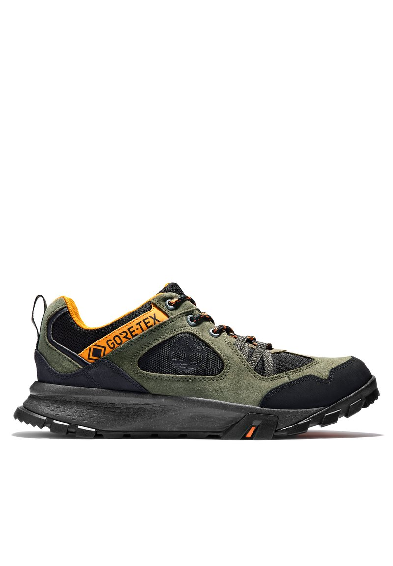 Timberland - GARRISON TRAIL LOW GTX - Casual lace-ups - dark green suede