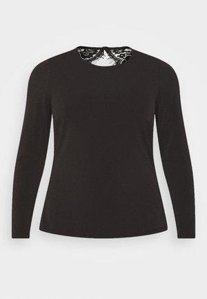 VMANA - Top sdlouhým rukávem - black