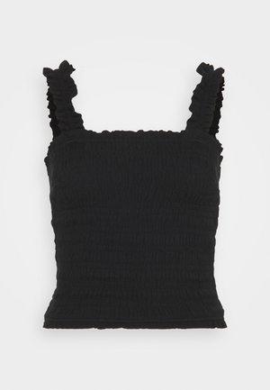 SMOCK WAIST CAMI - Blouse - black