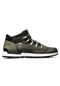 Timberland - SPRINT TREKKER MID FABRIC WP - Sneakersy niskie - dark green mesh - 4