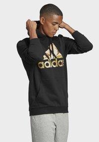 adidas Performance - CAMOUFLAGE HD ESSENTIALS SPORTS REGULAR SWEATSHIRT HOODIE - Luvtröja - black - 3