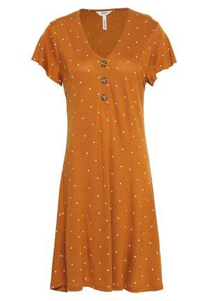 OBJCAROLINE DRESS - Jersey dress - sugar almond/cloud dancer