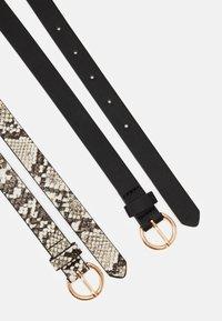 Even&Odd - 2 PACK - Belt - black/beige - 1