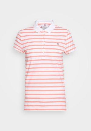 SHORT SLEEVE SLIM STRIPE - Polo shirt - breton/white