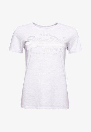 VINTAGE LOGO TONAL SATIN  - Print T-shirt - ice marl