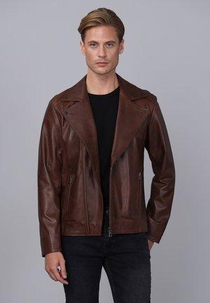 Kožená bunda - chestnut