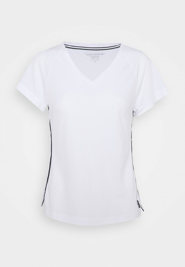 TESIA V TEE - T-shirt print - brilliant white