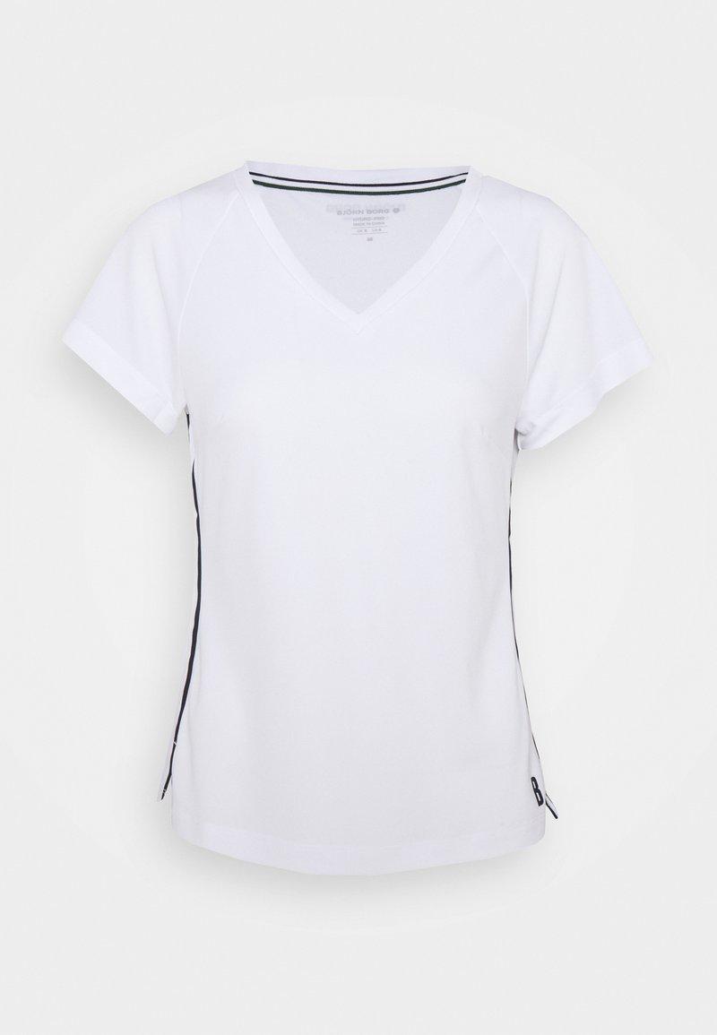 Björn Borg - TESIA V TEE - Print T-shirt - brilliant white