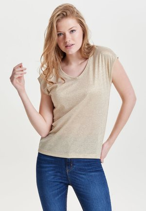ONLSILVERY LUREX  JRS - Camiseta básica - gold colour