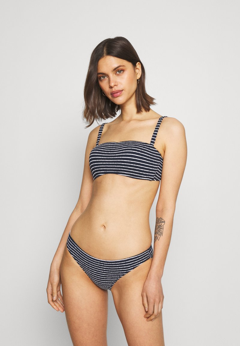 Seafolly - SEASIDE STRIPE BANDEAU BRA - Bikini top - true navy