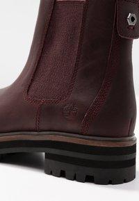 Timberland - LONDON SQUARE CHELSEA - Boots à talons - dark port mincio - 2