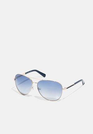 UNISEX - Sunglasses - gold-coloured/gradient blue