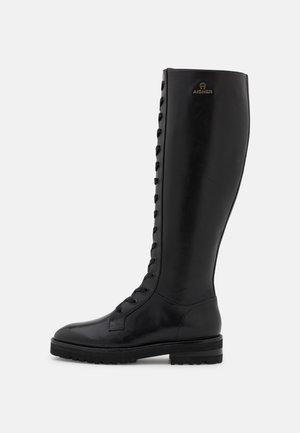 AVA  - Snørestøvler - black