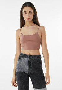 Bershka - Top - brown - 0