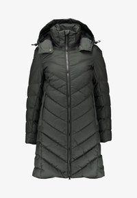 WHISTLER SLIM DOWN HOODED LONG - Kabát z prachového peří - asfalt