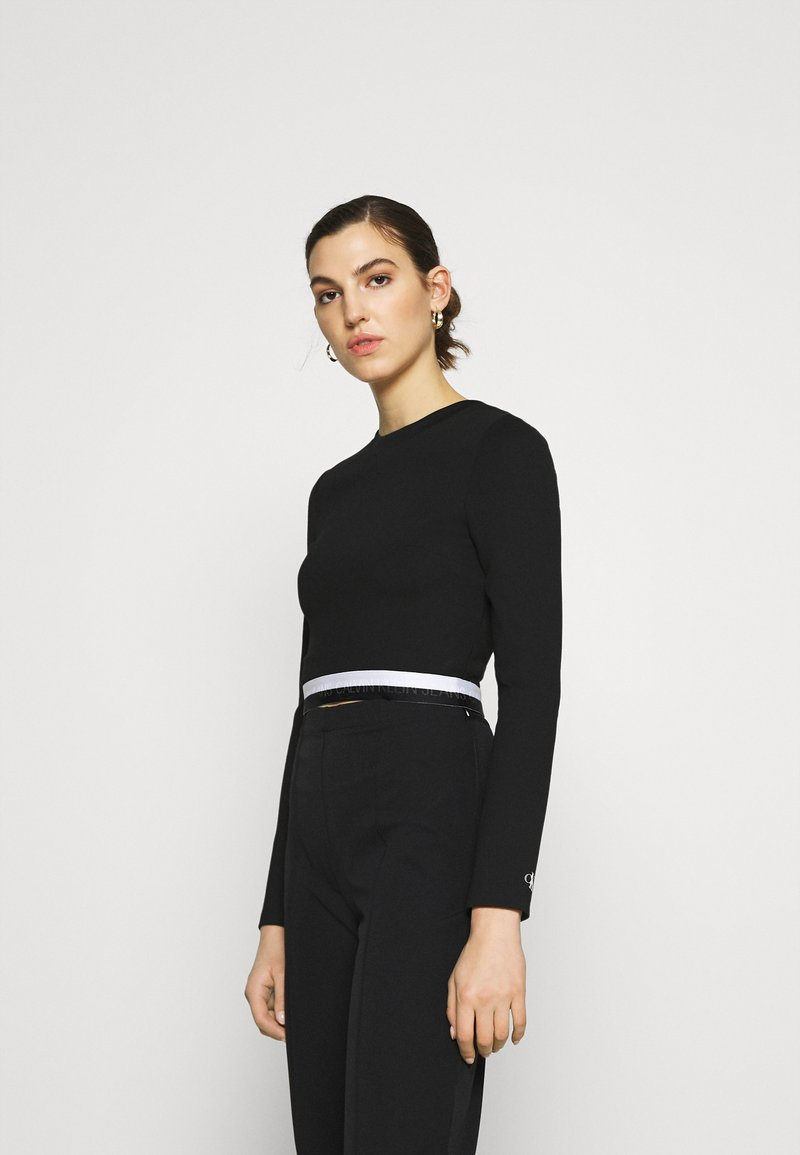 Calvin Klein Jeans - MONOCHROME MILANO - Long sleeved top - black