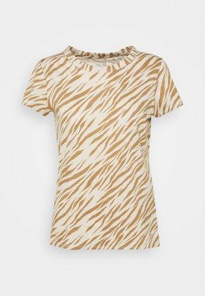 COZY SLUB CREW - T-shirt imprimé - beige/light brown