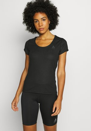 CREW NECK ACTIVE F-DRY LIGHT - Basic T-shirt - black