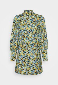 MINI DRESS WITH LONG SLEEVES - Day dress - blue green/multi