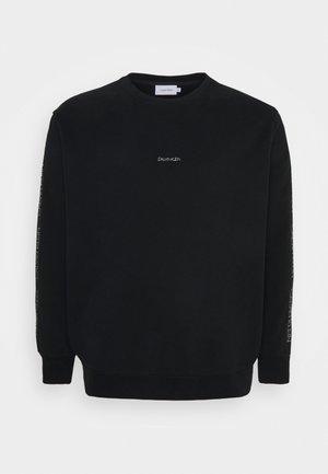 SILVER LOGO - Collegepaita - black/silver-coloured