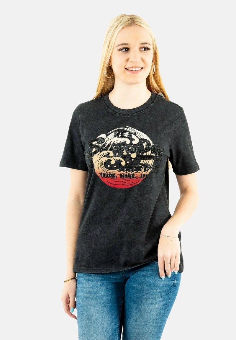 Superdry - Print T-shirt - noir