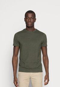Pier One - 5 PACK - T-shirts basic - dark blue/grey/khaki - 4