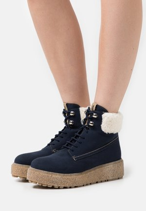 Lace-up ankle boots - marino