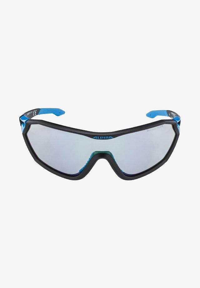 MANDANT - Sports glasses - black matt-cyan (a8585.x.31)