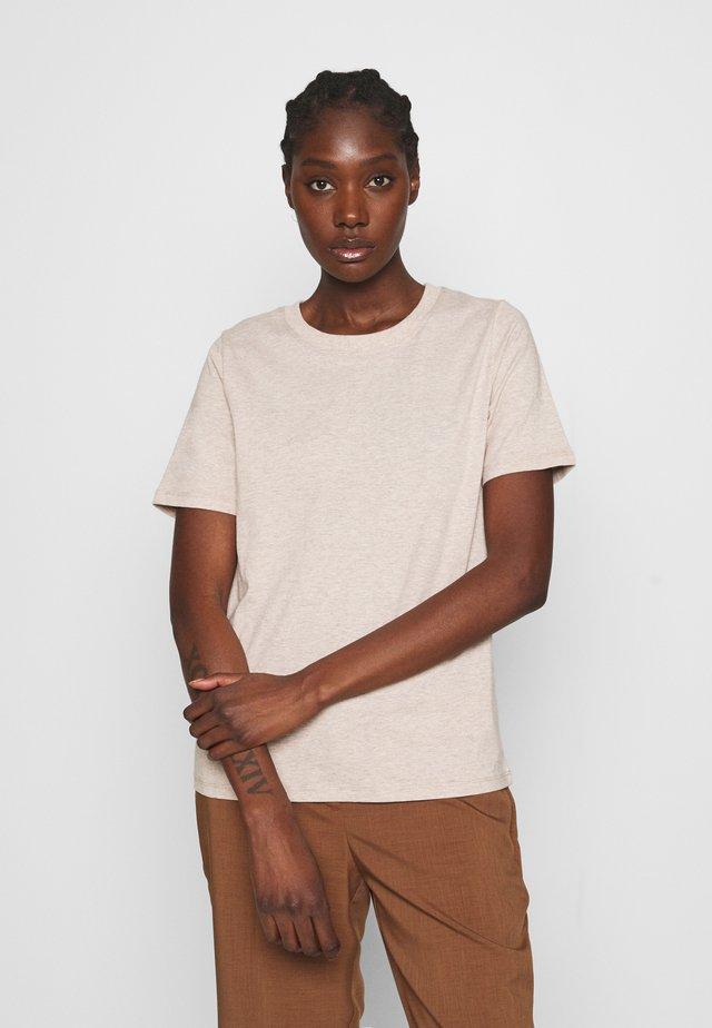 SAFFI - T-shirt basic - oat melange