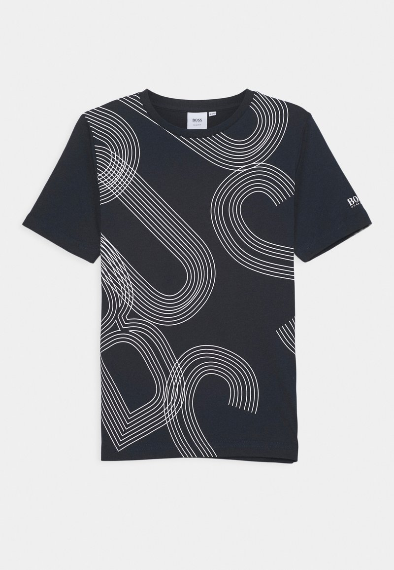 BOSS Kidswear - SHORT SLEEVES TEE - Print T-shirt - navy