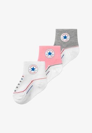 CHUCK INFANT QUARTER 3 PACK - Ponožky - coastal pink
