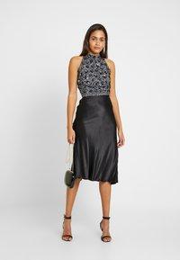 Lace & Beads - GIU - Blouse - charcoal - 1
